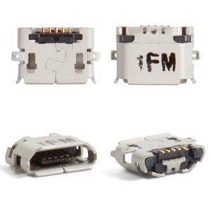 Charge Connector LG E730 Optimus Sol; Sony Ericsson U5, X10, X8, (5 pin, micro USB type-B)