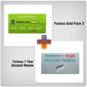 Продление доступа в зону поддержки Furious на 1 год + Furious Gold Pack 3