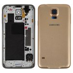 Корпус для Samsung G900H Galaxy S5, золотистый