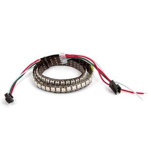 Светодиодная лента RGB SMD5050, WS2812B (c  управлением, IP67, 144 диодов/м, 1 м)