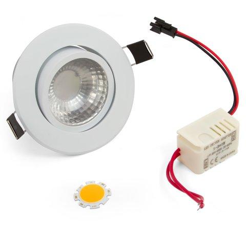Комплект для збирання стельового світильника COB 3 Вт теплий білий