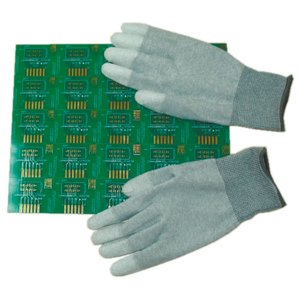 Антистатичні рукавиці Maxsharer Technology C0504-M з поліуретановим покриттям пальців